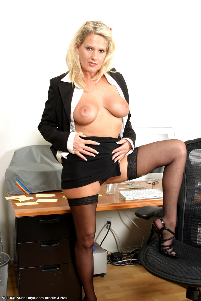 Blonde Office MILF Bridgette, Blonde, over 40, Office, MILF, Bridgette, More Hot Mature  Babes from Aunt Judy and TheWanderer